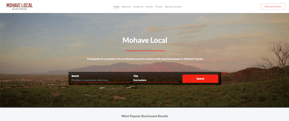 Mohave Local home page